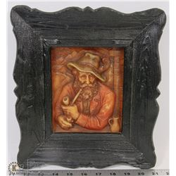 VINTAGE BEESWAX ART WALL PICTURE