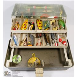 LARGE FISHING BOX COMES W/ LURES AND FISHING