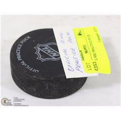 OFFICIAL NHL PRACTICE PUCK