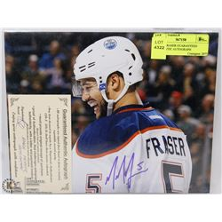 MARK FRASER GUARANTEED AUTHENTIC AUTOGRAPH