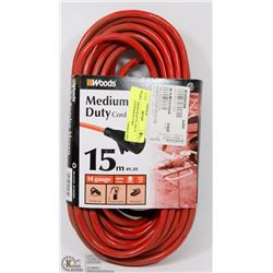 WOODS MEDIUM DUTY 15M 14 GAUGE EXTENSION CORD