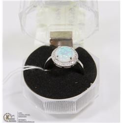 #23-WHITE FIRE OPAL GEMSTONE RING