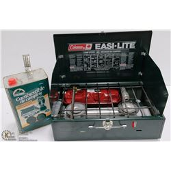 NEW COLEMAN EASYLITE CAMP STOVE W/ EXTRA EQUITTER,