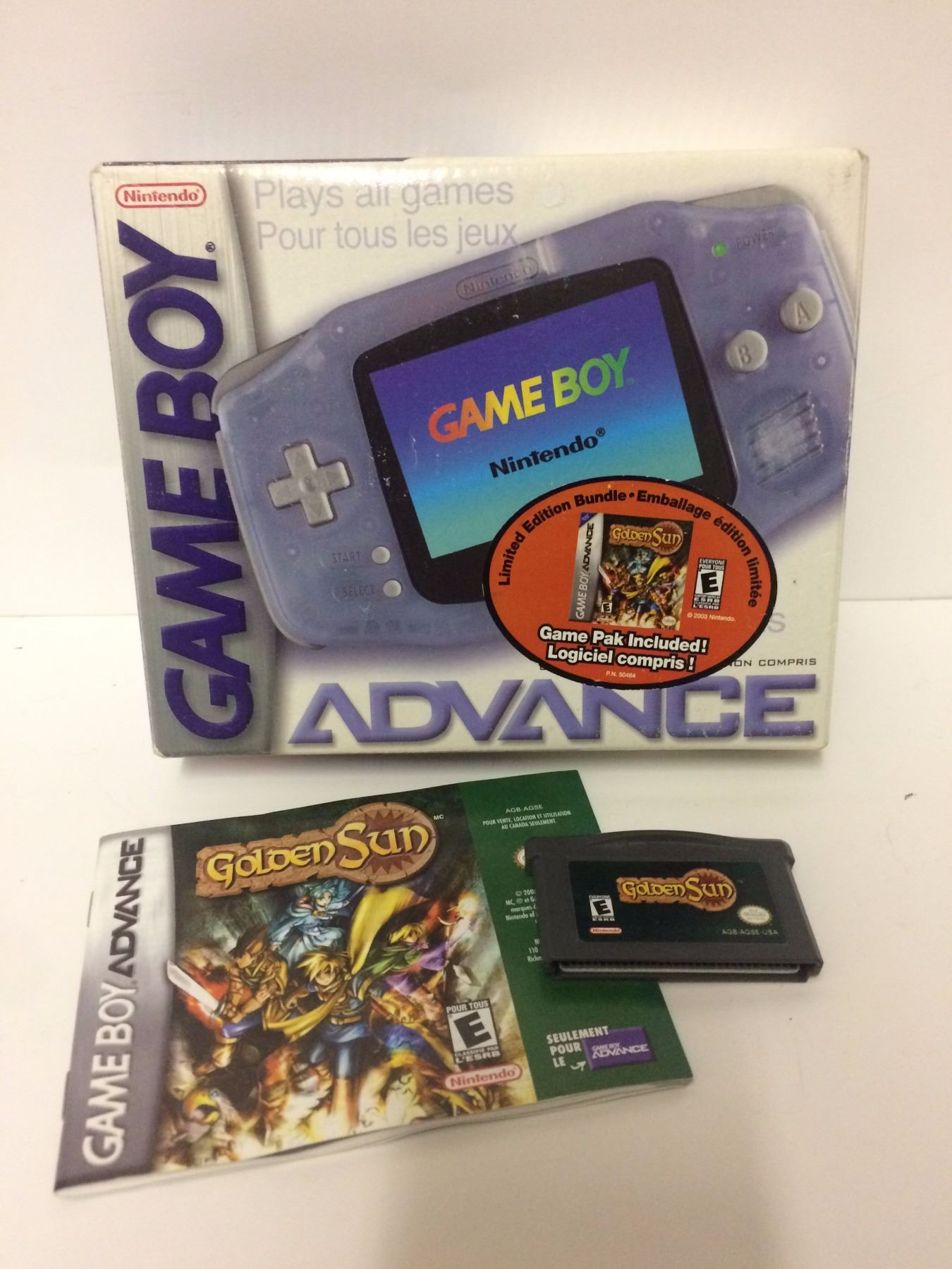 GAME BOY ADVANCE GAMING CONSOLE W/ GOLDEN SUN VIDEO GAME