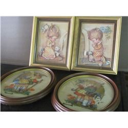 Folk art pictures with frames
