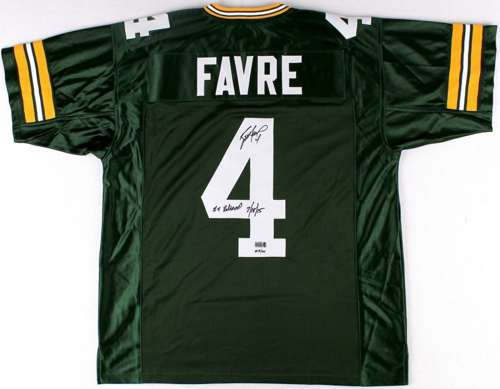 release date 944ce 51a3f Brett Favre Signed LE Packers Jersey Inscribed