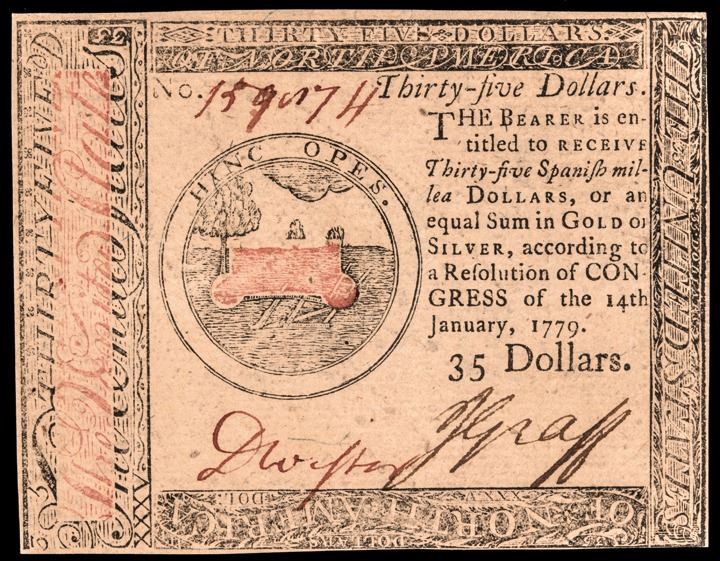 Colonial Currency, Continental, January 14, 1779 $35 PCGS Choice New-63PPQ