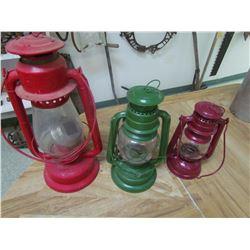 3 Barn lanterns
