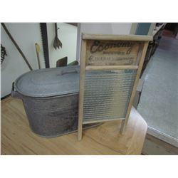Washboard & galvinized boiler