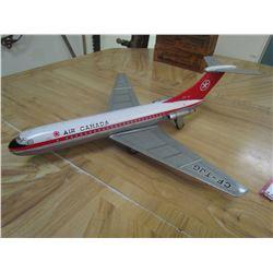 Brim toy brand British DC 9 - Tin Airplane