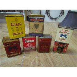 7 Spice containers - Blue Ribbon, Senece, etc.
