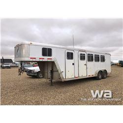 2002 FEATHERLITE 9641 HORSE TRAILER