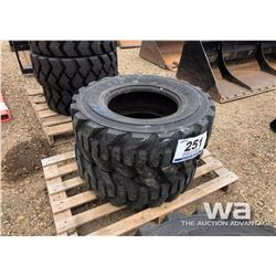 (2) 12-16.5 SKID STEER TIRES