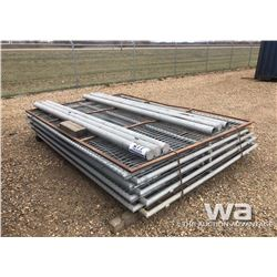 (4) SETS CHAIN LINK FENCING GATES