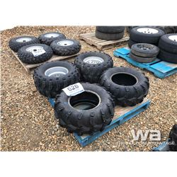 (2) SUPER SWAMPER TIRES & RIMS