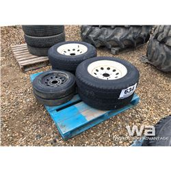 (4) GOODYEAR 205/75R15 TRAILER TIRES & RIMS