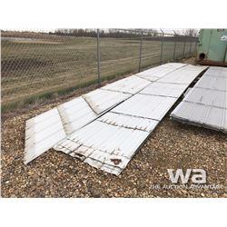 (2) BUNDLES USED STEEL ROOFING