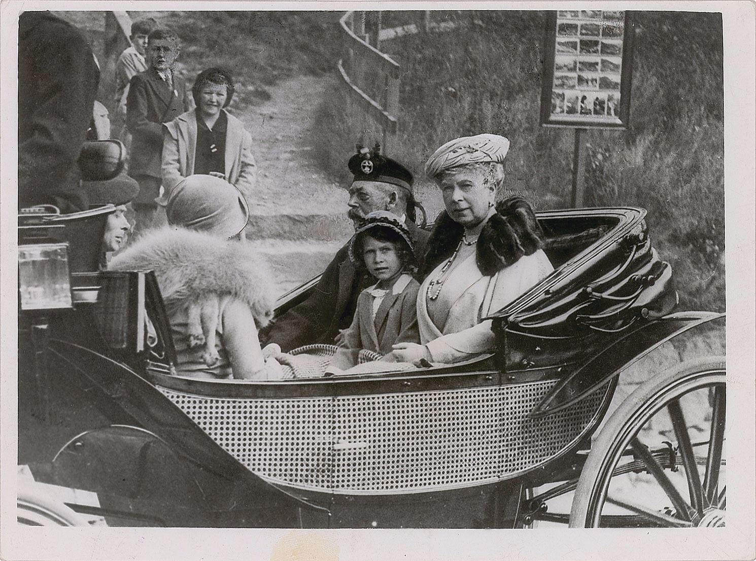King George V, Mary of Teck, and Princess Elizabeth Photograph