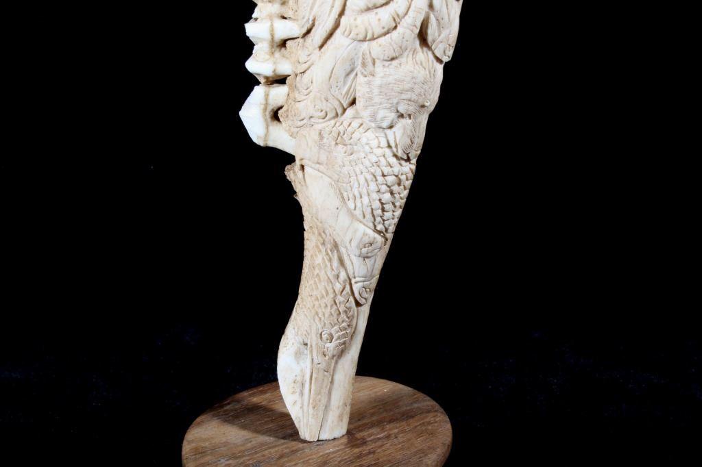 Inuit Eskimo Totem Jawbone Carving