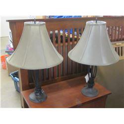 Bronze Cast table lamps
