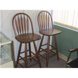 Wooden bar stools