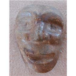 Northwest Coast Stone Mask w/Helm COA