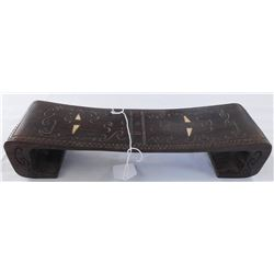 Fijian Wood Headrest w/Inlay