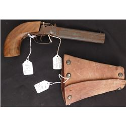 Double-Barrel Percussion Pistol w/Custom Holster