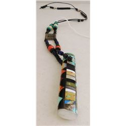 Trade Bead Necklace w/Stone-to-Stone Pendant