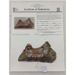 Mayan Stone Pectoral w/John Jordan COA