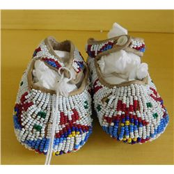 Fully-Beaded Childs Moccasins