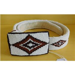 Fully-Beaded Sioux Belt and Buckle