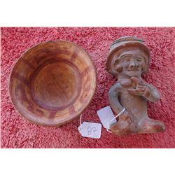 Chinesco Figure & Tri-Leg Rattle Bowl