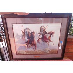 Framed Print of Indian Warriors