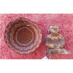 Pre-Columbian Figure & Vase