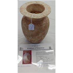 Egyptian Stone Urn w/John Jordan COA