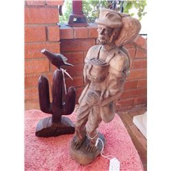 2 Mexican Wood Carvings