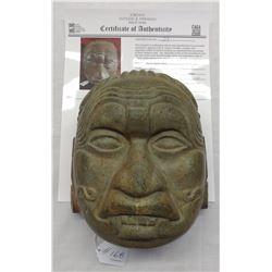 Mayan Jadeite Mask w/John Jordan COA