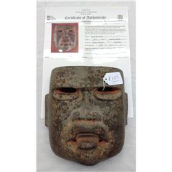 Olmec Stone Mask w/John Jordan COA