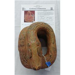 Aztec Jade Snake w/John Jordan COA