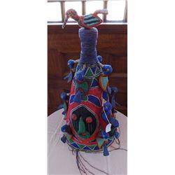 African Yoruba Beaded Royal Crown