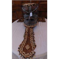 African Kuba Mboom Royal Helmet Mask