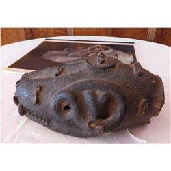 African Benin Zoomorphic Bronze Snake w/Report