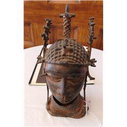 African Bronze Bust w/Report-COA