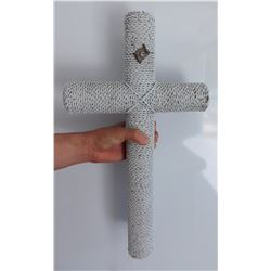 Large Beaded Italian Cross