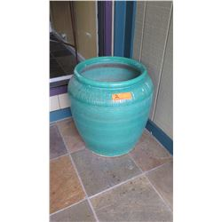 Large Glazed Planter - Celadon Green (currently used as umbrella stand)