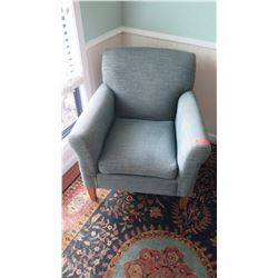 Upholstered Club Chair, Gray