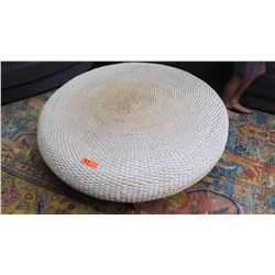 "Coffee Table - Woven Water Hyacinth, ""Asia Tides"", Roche Bobois, H: 16"", Dia: 44.5"""