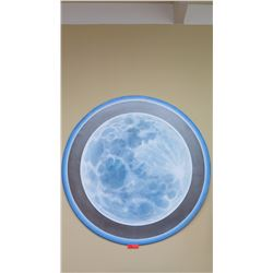 "Large, Original Art ""Moon"" by David Campbell Wilson, Painted, Layered  Wood, 1999, 4ft Dia."