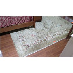 "Large Indo Tabriz Rug - Cream w/Gold & Red, Charles Roberts,106""x134"""